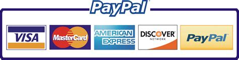 PayPal supported and credit cards